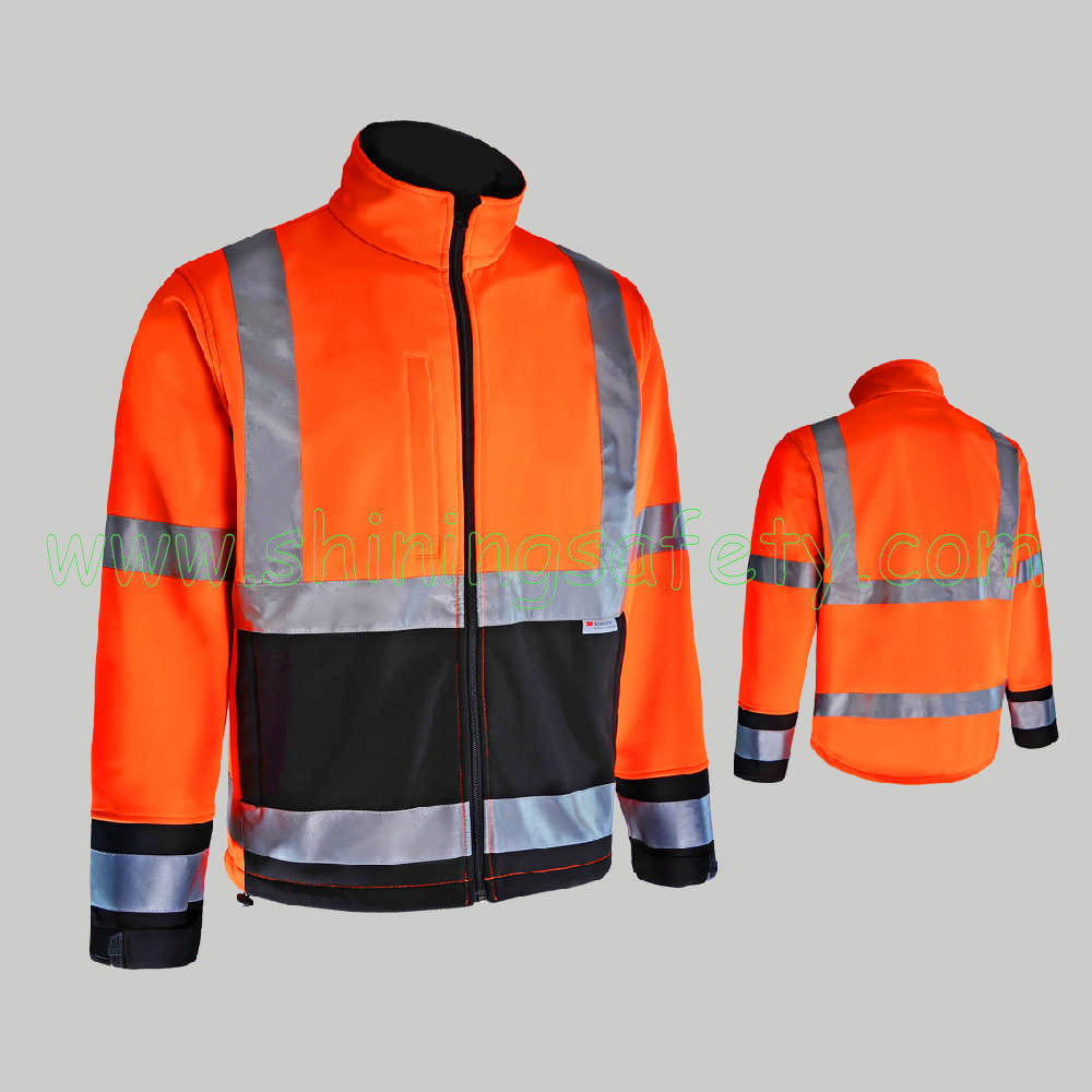 SJ001 High Visibility Softshell Jacket
